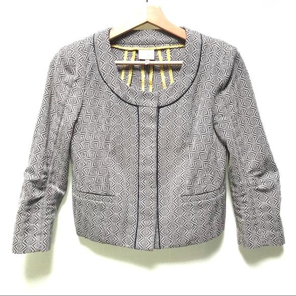 Anthropologie Jackets & Blazers - Anthropologie Cropped 3/4 Sleeve Jacquard 0